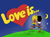 """Вафельная картинка """"Love is""""  A4 (код 1262)"""