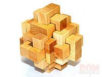 Головоломка деревянная Крест большой