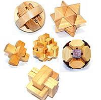 Набор из 6 деревянных головоломок