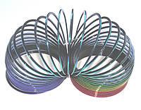 Пружинка Слинки радужно-черная