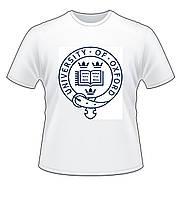 Футболка Oxford university белая
