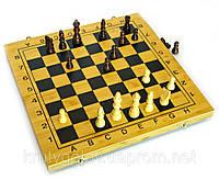 Шахматы 3 в 1 деревянные большие, 45х45 см