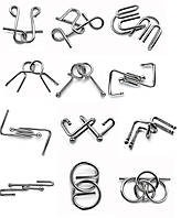 Коллекция 12 головоломок серии Wire Puzzle Гигант