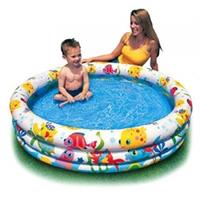 Детский бассейн Тропические рыбки интекс 59431