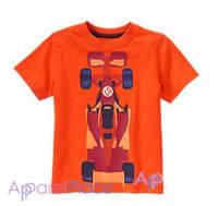 Gymboree Футболка оранжевая, Race Car