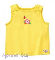 Gymboree Майка желтая, Бабочка и цветок