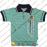 Стильные футболки с воротником и манжетам от 3 до 7 лет (4076-2)