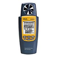 Анемометр SR8022 (0,4 - 20 м/с; 0 - 99999 m3/s) с функцией измерения температуры и расхода воздуха