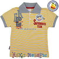 Полосатые футболки с воротником пр- во Турция от 2 до 6 лет (3384-4)