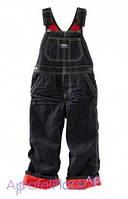 OshKosh Комбинезон джинсовый на красном флисе0-24