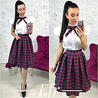 """Стильный молодежный костюм """" Рубашка + юбка """" Dress Code, фото 1"""