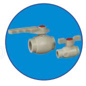 Клапан (вентиль) шаровой ASG-plast d20 мм
