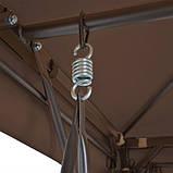 Садовые качели Hollywood коричневоя,раскладная , крыша, москитная сетка, фото 3