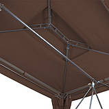 Садовые качели Hollywood коричневоя,раскладная , крыша, москитная сетка, фото 4