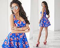 """Стильное молодежное платье мини """" Красные розы """" Dress Code"""