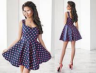 """Стильное молодежное платье мини """" Горох """" Dress Code , фото 1"""