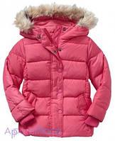 Gap Куртка для девочки на пуху коралловая