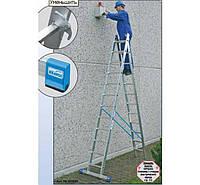 Лестницы и стремянки KRAUSE Двухсекционная расставная лестница KRAUSE Stabilo 2x9 ступеней