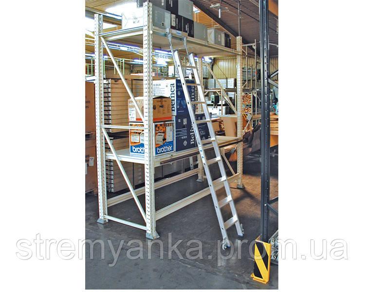 Лестницы и стремянки KRAUSE Лестница для стеллажей для круглой шины KRAUSE 5 ступеней - STREMYANKA в Киеве