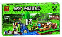 Конструктор Майнкрафт ферма, 262 дет., аналог лего Майнкрафт, Minecraft