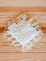 Крестильная подушечка (кремовый, поликоттон, (14*14))