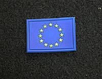 Шеврон, Патч с липучкой флаг Евросоюза для тактической одежды и сумок.