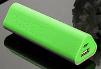 Портативний зарядний пристрій для смартфонів 5000 mah  салатовий