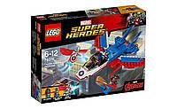Конструктор Лего 76076  Воздушная погоня Капитана Америка