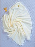 Пеленка крестильная(зима) ( кремовый, велсофт (90*90))