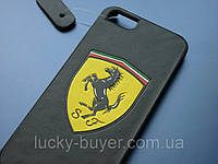 Чехол с логотипом Ferrari для iPhone 5 5S кожа, фото 1