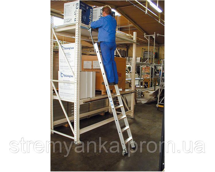 Лестницы и стремянки KRAUSE Лестница для стеллажей для Т-образной шины KRAUSE 7 cтупеней - STREMYANKA в Киеве
