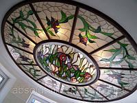 Витраж на потолок, пол стеклянный с рисунком