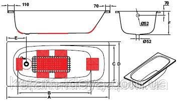 Ванна стальная Koller Pool Universal 160x70 B60HAH00E, фото 2