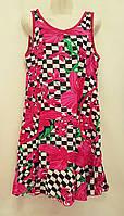Женский халат-платье трикотаж S55