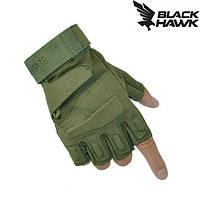 Тактические перчатки BlackHawk (Беспалый) Khaki.