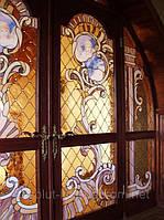 Стекло для дверей входных и межкомнатных, витражи, витражные двери стеклянные
