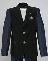 Вельветовый пиджак для мальчика Lilus модель 217, цвет черный