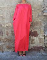 Платье макси оверсайз из вискозного трикотажа , фото 1