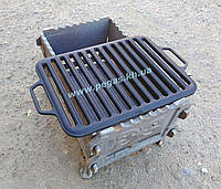 Решетка чугунная гриль для барбекю мангала 260х360 мм. Акция!