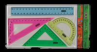 Линейка Комплект: линейка 20см, 2 угольника, транспортир Zibi ZB.5683-99 (ZB.5683-99 x 30244)