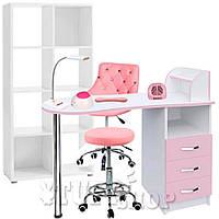 Маникюрный кабинет (набор мебели) Rouse - розово-белый