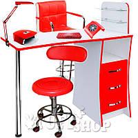 Маникюрный кабинет (набор мебели) Laura - красно-белый