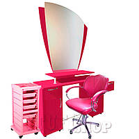 Рабочее место парикмахера (набор мебели) Pink - розовый