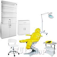 Косметологический кабинет (набор мебели) Cornela - бело-желтый