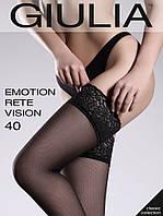 Женские чулки сетка с кружевом Emotion Rete Vision