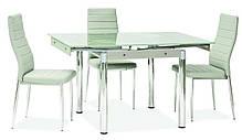 Стол кухонный обеденный столовый стеклянный раскладной (6 цветов) GD-082 80x80(131) (Signal), фото 3