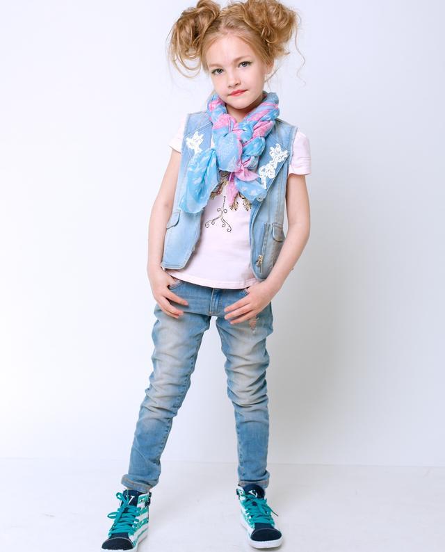 Детские джинсы для девочек оптом