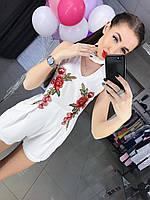 Женский модный комбинезон с вышивкой (2 цвета), фото 1