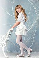 КОЛГОТКИ белые рост.134-146 (9-10лет) MELTON  Дания