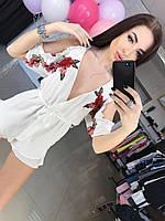 Женский модный комбинезон с кружевом (2 цвета), фото 1